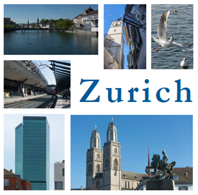Umschlag Zurich images of a city
